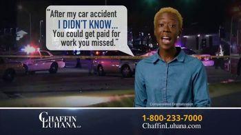 Chaffin Luhana TV Spot, 'I Didn't Know: Get Paid' - Thumbnail 1