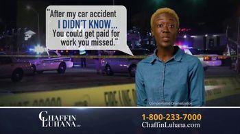 Chaffin Luhana TV Spot, 'I Didn't Know: Get Paid' - Thumbnail 2