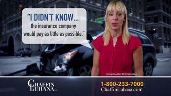 Chaffin Luhana TV Spot, 'I Didn't Know: Get Paid' - Thumbnail 4