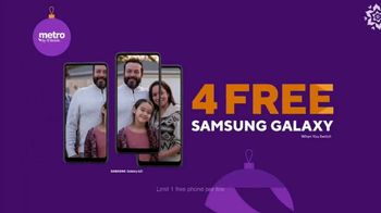 Metro by T-Mobile TV Spot, 'Holidays: Four Free Samsung Phones' - Thumbnail 10