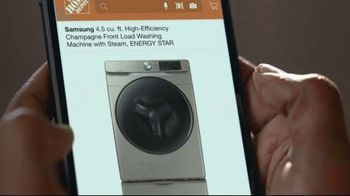The Home Depot TV Spot, 'New Year, New Appliances: Samsung Washer and Dryer' - Thumbnail 6