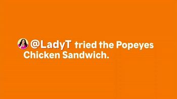 Popeyes Chicken Sandwich TV Spot, '@LadyT'