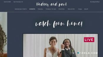 Zola TV Spot, 'Easy Wedding Planning from Home' - Thumbnail 7