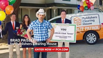 Publishers Clearing House TV Spot, 'Next Month: $5,000 a Week for Life' Featuring Brad Paisley