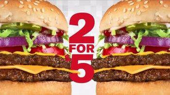 Checkers & Rally's Two for $5 Double Checkerburger With Cheese Deal TV Spot, 'So Extra'
