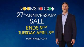 Rooms to Go 27th Anniversary Sale TV Spot, 'Last Chance' - Thumbnail 10