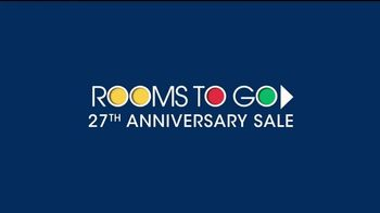 Rooms to Go 27th Anniversary Sale  TV Spot, 'iSofa Living Room Set' - Thumbnail 1