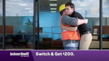 Jackson Hewitt TV Spot, 'Construction Worker: Switch' - 3344 commercial airings