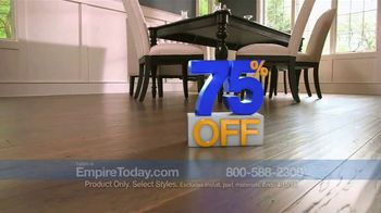 Empire Today 75 Percent Off Sale TV Spot, 'Gigantic Savings on New Floors'