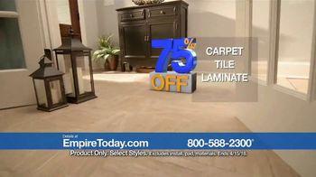 Empire Today 75 Percent Off Sale TV Spot, 'Gigantic Savings on New Floors' - Thumbnail 3