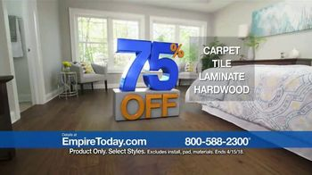 Empire Today 75 Percent Off Sale TV Spot, 'Gigantic Savings on New Floors' - Thumbnail 9
