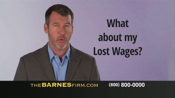The Barnes Firm TV Spot, 'Medical Bills and Lost Wages' - Thumbnail 2