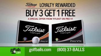 Golfballs.com TV Spot, 'Titleist With Free Personalization'