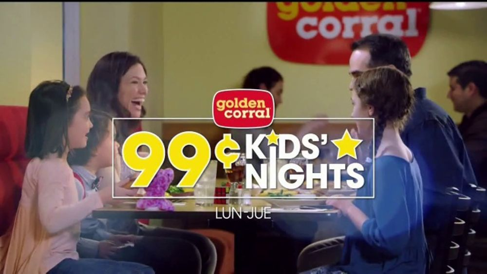 Golden Corral 99 Cent Kids Nights TV Commercial Monday Thursday