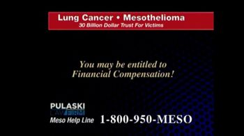 Pulaski Law Firm TV Spot, 'Lung Cancer or Mesothelioma' - Thumbnail 3