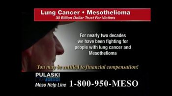 Pulaski Law Firm TV Spot, 'Lung Cancer or Mesothelioma' - Thumbnail 5