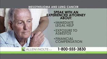 Allen & Nolte, PLLC TV Spot, 'Mesothelioma' - Thumbnail 4