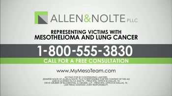 Allen & Nolte, PLLC TV Spot, 'Mesothelioma' - Thumbnail 7