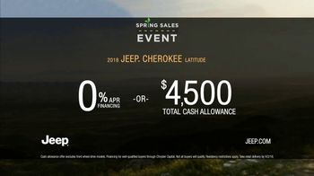 Jeep Spring Sales Event TV Spot, 'What It Takes: 2018 Cherokee' [T2] - Thumbnail 9