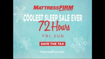 Mattress Firm Coolest Sleep Sale TV Spot, 'Friday to Sunday: Save the Tax' - Thumbnail 3
