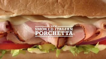 Arby's Smoked Italian Porchetta TV Spot, 'Burger' Song by Andrea Bocelli - 2445 commercial airings