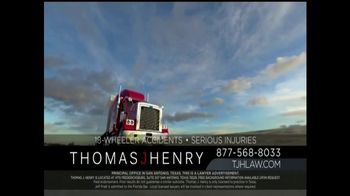 Thomas J. Henry Injury Attorneys TV Spot, 'Large Truck Accidents'
