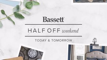 Bassett Half Off Weekend TV Spot, 'Refresh: Chairs and Beds' - Thumbnail 1