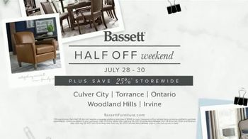 Bassett Half Off Weekend TV Spot, 'Tables, Chairs and Beds' - Thumbnail 9