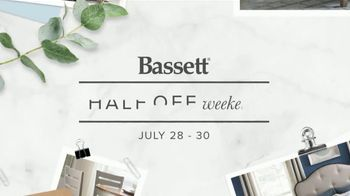 Bassett Half Off Weekend TV Spot, 'Tables, Chairs and Beds' - Thumbnail 2