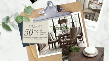 Bassett Half Off Weekend TV Spot, 'Tables, Chairs and Beds' - Thumbnail 4