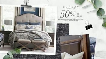 Bassett Half Off Weekend TV Spot, 'Tables, Chairs and Beds' - Thumbnail 8