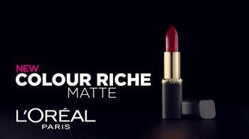 L'Oreal Paris Colour Riche Matte TV Spot, 'Addictive' - Thumbnail 3