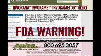 Invokana Amputation Advocates TV Spot, 'FDA Warning' - Thumbnail 1
