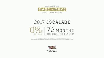 Cadillac Made to Move 2017 Clearance Event TV Spot, 'Perfect Fit: Escalade' [T1] - Thumbnail 8