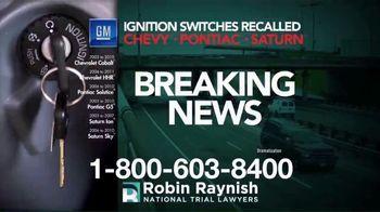 Robin Raynish Law TV Spot, 'General Motors Recalls'