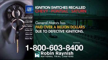 Robin Raynish Law TV Spot, 'General Motors Recalls' - Thumbnail 2