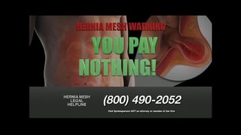 Hernia Mesh Advocates TV Spot, 'Don't Be a Silent Victim'