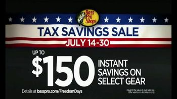 Bass Pro Shops Freedom Days TV Spot, 'Tax Savings Sale' - Thumbnail 4