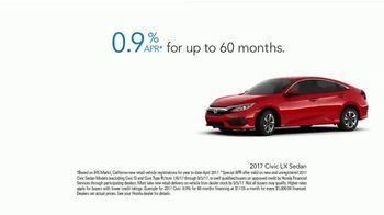 Honda Summerbration Sales Event TV Spot, 'Free Ice Cream: 2017 Civic LX' [T2] - Thumbnail 8