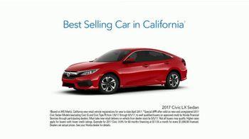 Honda Summerbration Sales Event TV Spot, 'Free Ice Cream: 2017 Civic LX' [T2] - Thumbnail 9