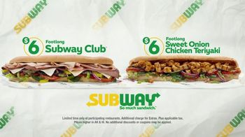Subway $6 Footlong Subs TV Spot, 'Starburst' - Thumbnail 8