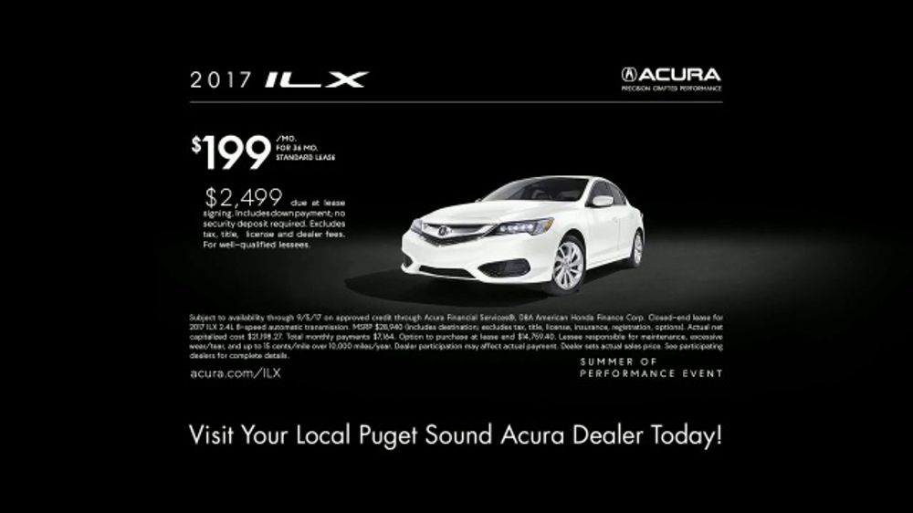 Acura Ilx Lease >> Acura Summer of Performance Event TV Commercial, 'Summer ...