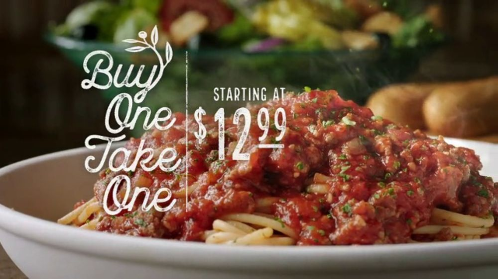 Olive garden buy one take one tv commercial 39 family time - What time does the olive garden close ...