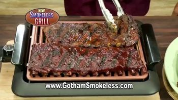 Gotham Steel Smokeless Grill TV Spot, 'Barbecue Indoors' - Thumbnail 4