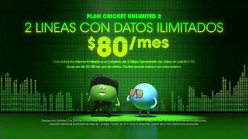 Cricket Wireless Unlimited 2 Plan TV Spot, 'Muévete al ritmo' [Spanish]