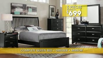 Rooms to Go Summer Sale and Clearance TV Spot, 'Five Piece Bedroom' - Thumbnail 6