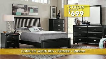 Rooms to Go Summer Sale and Clearance TV Spot, 'Five Piece Bedroom' - Thumbnail 7
