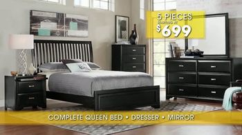Rooms to Go Summer Sale and Clearance TV Spot, 'Five Piece Bedroom' - Thumbnail 8