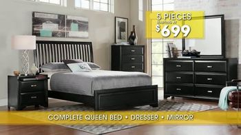 Rooms to Go Summer Sale and Clearance TV Spot, 'Five Piece Bedroom' - Thumbnail 9