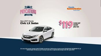 AutoNation TV Spot, 'Paycation: 2017 Honda Civic LX' Feat. Jack Harvey - Thumbnail 8